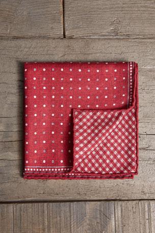 Polka-Dot MultiColor Pocket Sq A201 NWT Brunello Cucinelli Men 100/% Silk Floral