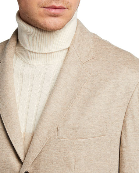 Image 4 of 4: Brunello Cucinelli Men's Cashmere Jersey Unlined Jacket