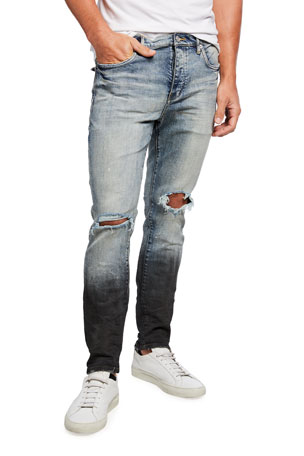 PURPLE Men's Distressed Gradient Jeans