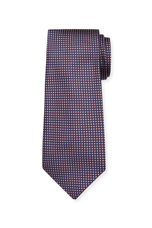 Emporio Armani Men's Small Dot-Print Silk Tie