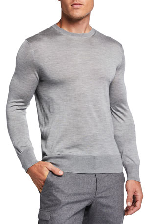 TOM FORD Men's Silk Jersey Crewneck Sweater