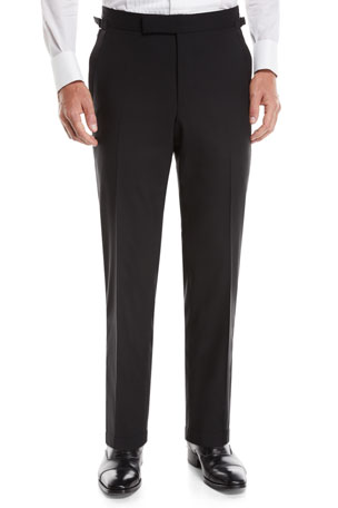 TOM FORD Men's O'Connor Wool Tuxedo Pants