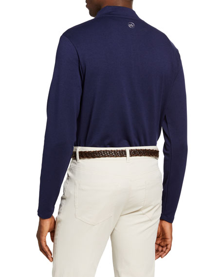 Image 2 of 2: Peter Millar Men's Ace Crown Crafted Quarter-Zip Sweater