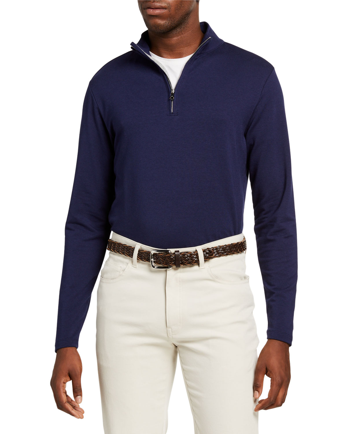 Peter Millar Men's Ace Crown Crafted Quarter-Zip Sweater