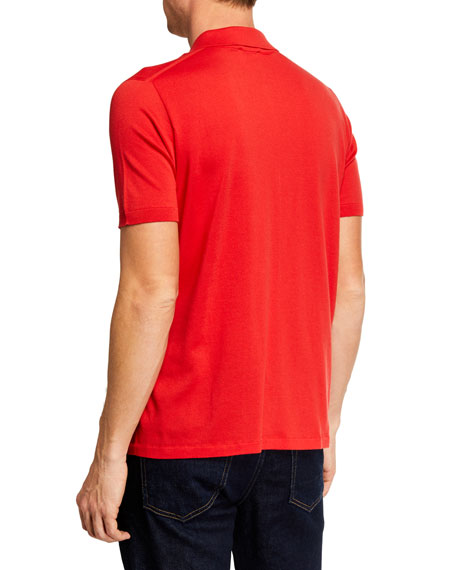 Image 2 of 2: Brioni Men's Short-Sleeve Solid Polo Shirt