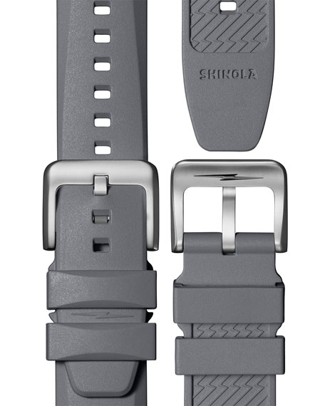 Image 4 of 5: Shinola Men's 42mm The Duck Water-Resistant Watch w/ Rubber Strap