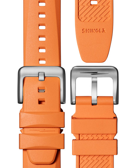 Image 5 of 5: Shinola Men's 42mm The Duck Water-Resistant Watch w/ Rubber Strap