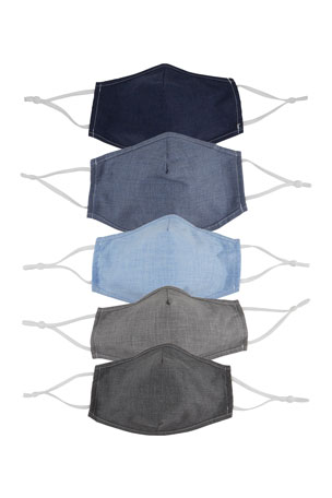 Neiman Marcus Men's 5-Pack Cloth Mask Face Covering