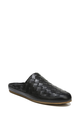 Vince Men's Alonzo 2 Woven Leather Slippers