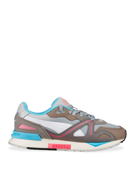 Image 3 of 4: Puma Men's Mirage Mox Colorblock Suede Sneakers