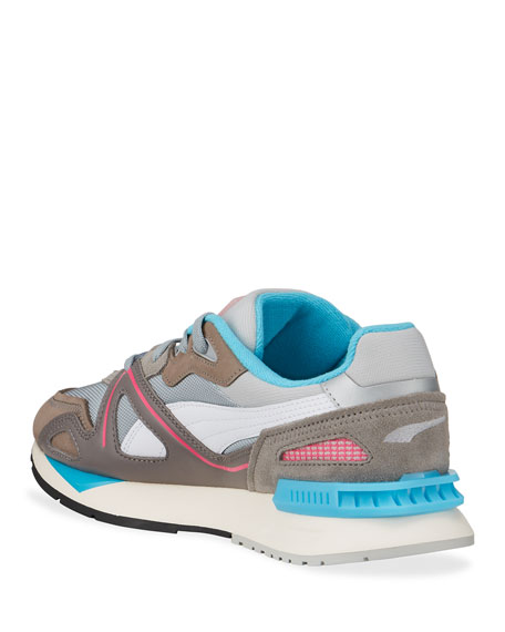 Image 4 of 4: Puma Men's Mirage Mox Colorblock Suede Sneakers