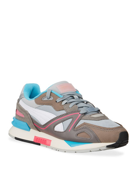 Image 1 of 4: Puma Men's Mirage Mox Colorblock Suede Sneakers