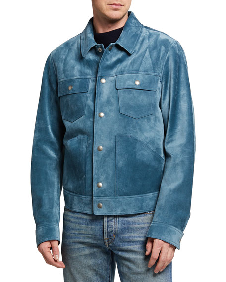 Image 2 of 3: TOM FORD Men's Suede Western Blouson Jacket