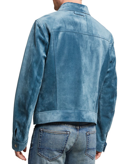 Image 3 of 3: TOM FORD Men's Suede Western Blouson Jacket