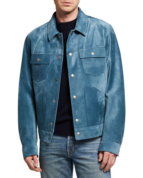 Image 1 of 3: TOM FORD Men's Suede Western Blouson Jacket