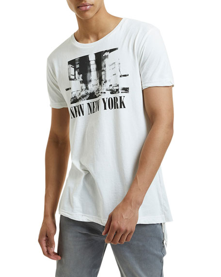 Image 1 of 2: Ksubi Men's New NYC Seeing Lines Graphic T-Shirt