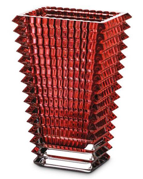 Eye Small Rectangular Red Vase