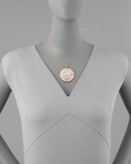 Frederic sage luna large 18k gold mother of pearl pendant necklace luna large 18k gold mother of pearl pendant necklace yellow mozeypictures Images