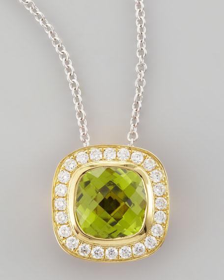 18k Yellow Gold Peridot Pendant Necklace