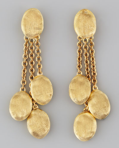 Marco Bicego Siviglia 18K Gold 3-Strand Drop Earrings
