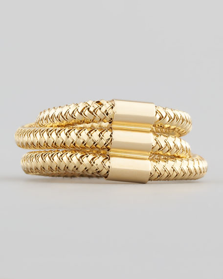 Primavera Three-Strand Ring, Yellow Gold