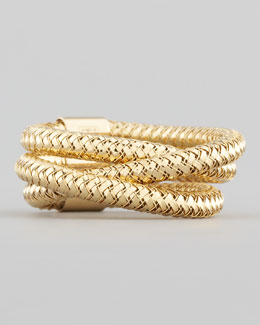 Roberto Coin Primavera Three-Strand Ring, Yellow Gold