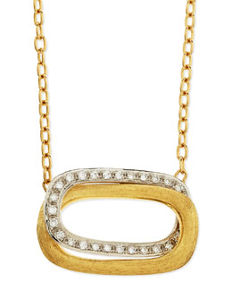Marco Bicego Murano 18k Gold & Diamond Pendant Necklace