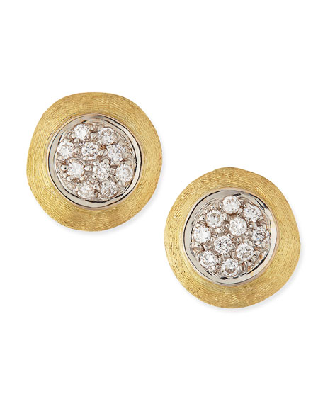 Marco Bicego Jaipur 18k Gold Diamond Stud Earrings
