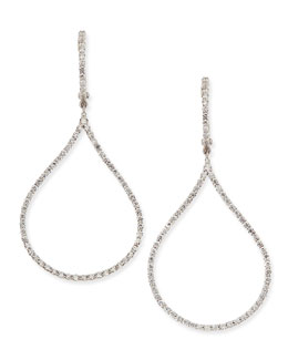 Roberto Coin 18k Diamond Oval Drop Earrings