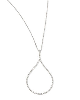 Roberto Coin 18k Diamond Oval Pendant Necklace