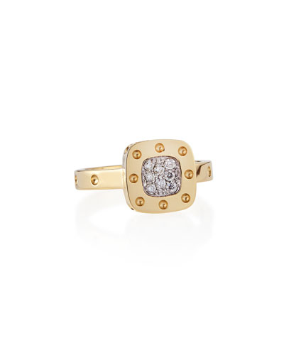 Pois Moi Pave Diamond Ring, Yellow Gold