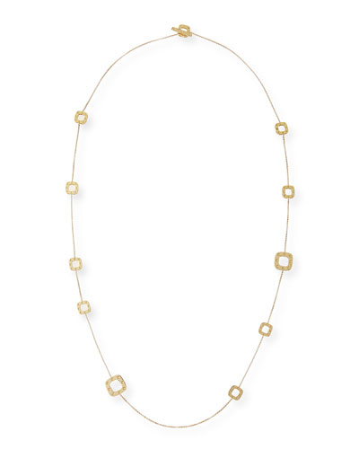 Pois Moi 18k Gold Station Necklace, 31""