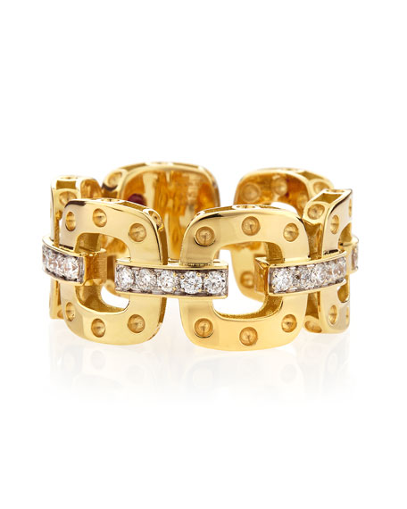 Roberto Coin 18k Yellow Gold Pois Moi Band
