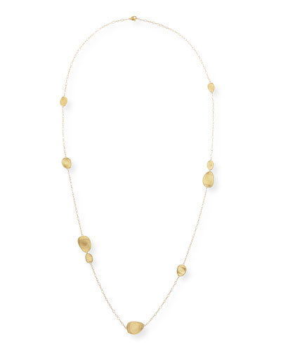 18k Gold Stone Station Necklace