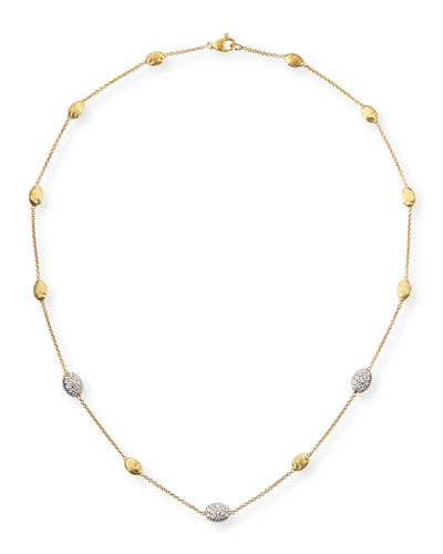 18k Gold Necklace with Diamonds