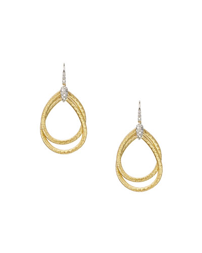 Cairo Small Hoop Earrings with Diamonds