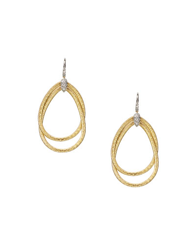 Cairo Medium Hoop Earrings with Diamonds