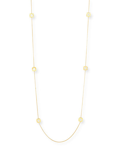 "Pois Moi 18k Mother-of-Pearl Station Necklace, 40""L"
