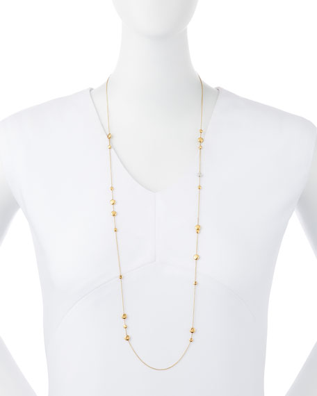 "18k Gold & Diamond Classic Necklace, 35""L"