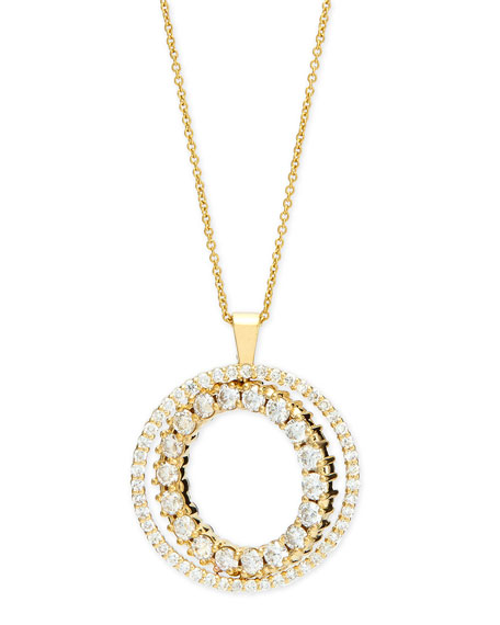Double-Sided White & Cognac Diamond Pendant Necklace