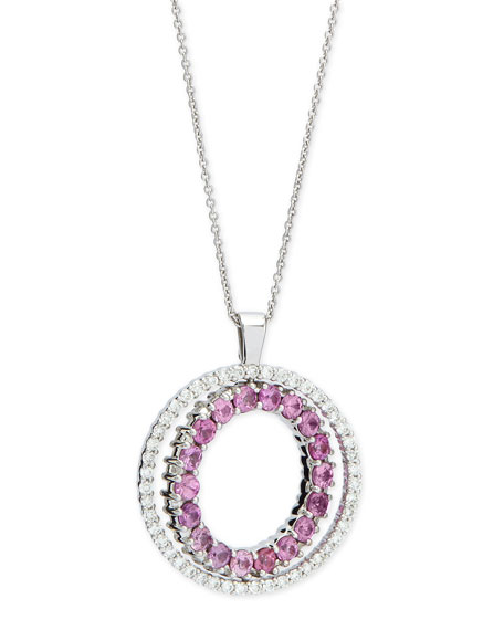 Roberto Coin Double-Sided Diamond & Pink Sapphire Pendant
