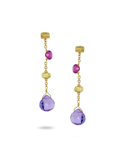 Paradise Mixed-Stone Drop Earrings