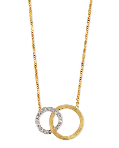 Marco Bicego Jaipur 18K Pavé Diamond Link Necklace