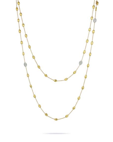 Pavé Diamond Bead Station Necklace, 49