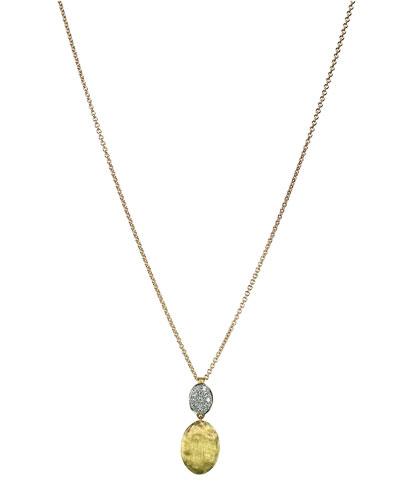Siviglia 18K Gold & Pavé Diamond Pendant Necklace