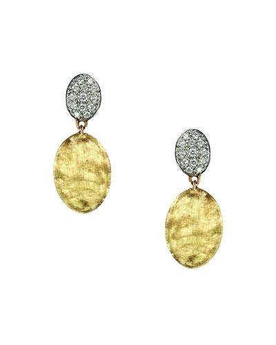 Siviglia 18K Gold & Pavé Diamond Double-Drop Earrings