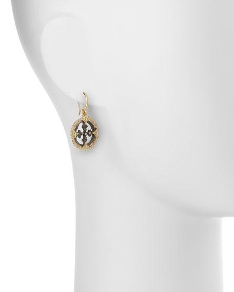 Sueño Open Cross Diamond Artifact Earrings