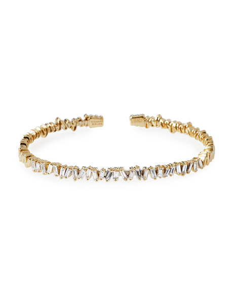Baguette Diamond Bangle in 18K Yellow Gold