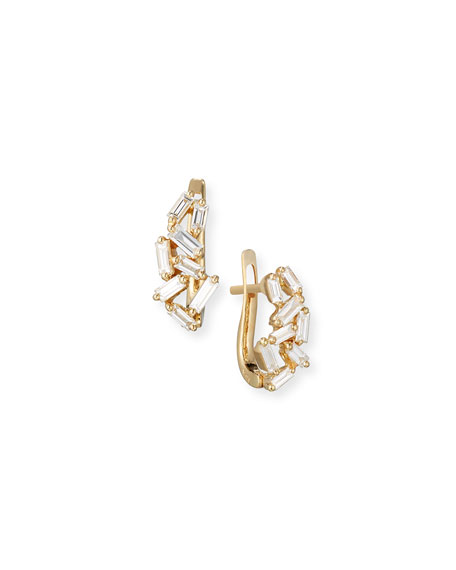 Suzanne Kalan Fireworks Mini Huggie Earrings in 18k Yellow Gold