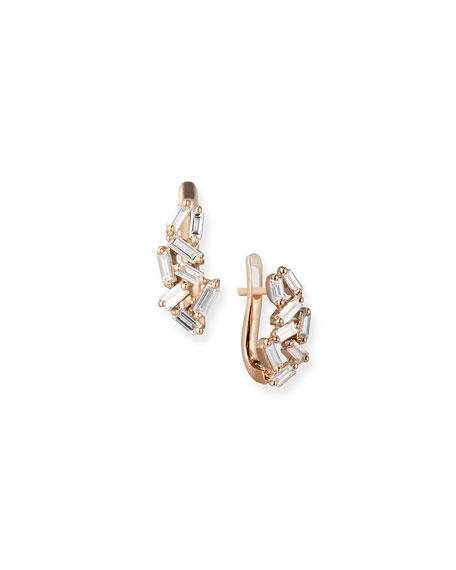 Suzanne Kalan 18k Gold Diamond Huggie Earrings 8RksBNdctz